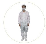 Nomex ESD 청정실 의복 작동되는 의복 청정실 재킷