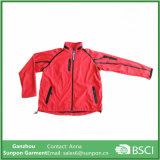 Casaco Windbreaker de cores vermelhas para mulheres