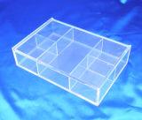 Personnaliser la boîte de présentation acrylique de spécialité de supermarché d'espace libre au détail de mémoire