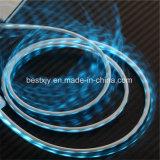 Зарядный кабель передачи данных USB света СИД Visiable пропуская микро-