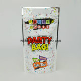 Custom Stand up Pouch Um lado é alumínio e outro lado é transparente Stand up Plastic Bag for Party Plastic Bag
