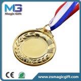 A liga feita sob encomenda do espaço em branco do logotipo da venda por atacado nova da promoção de Desing 3D ostenta a medalha