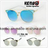 Estrutura redonda com Metal Extra combinam design de sobrancelhas Km16158 Plástico Fashion óculos de sol