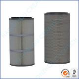 Filtro plisado poliester industrial del cartucho (PE) del polvo de 0.2 micrones de la materia textil