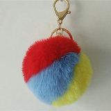 Цветастый шарик Keychain шерсти Faux POM Poms поддельный для подарка