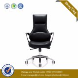 عادية خلفيّة أسود جلد مديرة [إإكسكتيف وفّيس] كرسي تثبيت ([هإكس-ك025])
