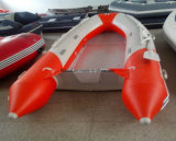 2.8M 0.9mm de comprimento de casco de PVC almofada insuflável com piso de alumínio