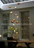 lámparas pendientes suspendidas modernas de la bola de cristal de 2017hotsale LED para la iluminación de interior