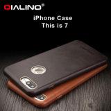 Qialino iPhone를 위한 아주 새로운 프리미엄 매우 얇은 진짜 가죽 전화 상자 더하기 7 7
