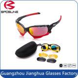 Pleines lunettes de soleil imperméables à l'eau jaunes antichoc noires légères superbes populaires de vélo
