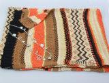 Шарф связанный способом для женщин, шаль вспомогательного оборудования способа, шарф зимы