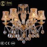 Indicatore luminoso a cristallo del lampadario a bracci di Champagne della clip dorata