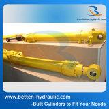 Cilindro hidráulico do crescimento da máquina escavadora de 3 polegadas