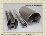 ASTM A554 Tubo de ranura redondo de acero inoxidable para fijación de vidrio