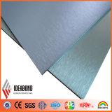 Самая лучшая продавая панель почищенная щеткой Ideabond алюминиевая составная (почищенное щеткой acm)