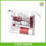 Bolso plástico de empaquetado determinado de la cremallera del PVC del recorrido transparente