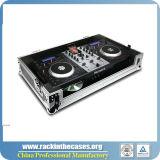 El vuelo protector del transporte encajona la caja de DJ de la caja del mezclador
