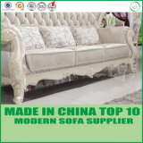 Mobília secional européia do sofá do couro genuíno do estilo
