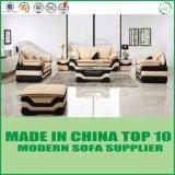Sofá seccional del cuero genuino de la sala de estar 1+2+3