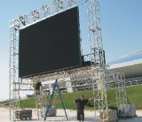 500*500mm 내각 P4.81 옥외 LED 임대 스크린 발광 다이오드 표시 스크린은 영상 벽을 광고하는 주조 알루미늄 내각을 정지한다
