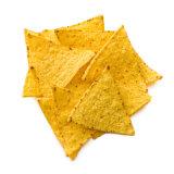 Microplaquetas de milho da batata e do triângulo do hexágono que fazem a máquina