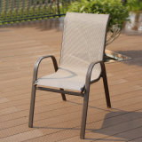 Patio Aluminium Glass Table Textilene Chair Support Factory Customized (J800)