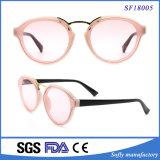 卸し売り方法女性の透過ピンクのサングラス