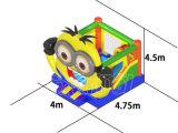 Cartoon Theme Minions Inflatable Bouncer Combo Castle para venda