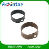 Movimentação de couro do flash do USB do bracelete do plutônio da vara do USB do Wristband