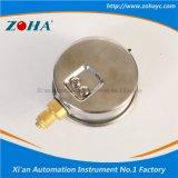 Manomètre de résistance aux chocs avec le connecteur de laiton de caisse de solides solubles