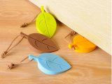 Windundurchlässiges Blatt geformter Silikon-Toiletten-Tür-Knall-Stopper mit hängendem Seil