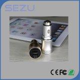Cargador portuario vendedor caliente universal del coche del USB del aluminio 2 con la salida 3.1A