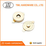 pressão magnética dourada de 18mm em acessórios do saco