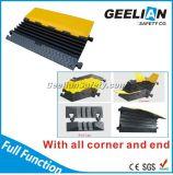 Protetor de cabo de 5 canais / Protetor de cabo de borracha / Piso de proteção de cabos