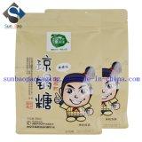 sacchetto dell'alimento stampato abitudine della carta kraft di Ziploc Della guarnizione 8-Side