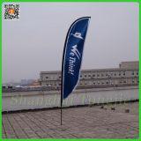 La publicité extérieure vers le bas de la plage drapeau promotionnel pour le commerce de gros