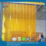 Langfang 부드럽게 노란 명확한 두 배 Ribbed PVC 지구 문 커튼