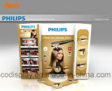 Gewölbte Fußboden-Ausstellungsstand-Pappladeplatten-Bildschirmanzeige für Förderung