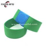 Logo imprimé Bracelet en silicone RFID Smart ID bracelet élastique avec Tyvek tissé pour les loisirs