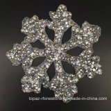 Танцы производительность подарок Rhinestone/швов вышивка Hotfix Applique снежинка исправлений ручной работы