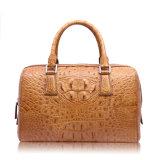 Bolsa de couro autêntica de couro de crocodilo Bolsa de moda de moda da Boston