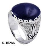 Anello d'argento dell'uomo dello smalto degli anelli degli uomini della CZ del commercio all'ingrosso 925 della fabbrica della Cina