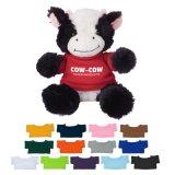 La vache à animal de ferme de peluche badine le jouet