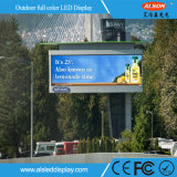 Im Freien LED-Schaukasten DES BAD-P8 mit grüner Umgebung
