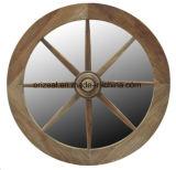 Estilo de madera redondo Enmarcado decorativo del espejo del espejo cosmético