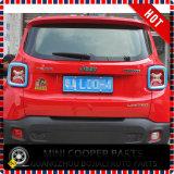 Cubierta azul material de la lámpara trasera del estilo del ABS del accesorio auto para el modelo renegado (2PCS/SET)