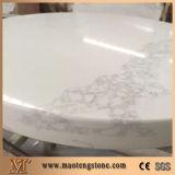 Brame extérieure solide de quartz de quartz artificiel blanc de Calacatta pour la partie supérieure du comptoir de cuisine