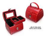Коробка Ювелирных Изделий Кожи Страуса Способа Подарка Промотирования Красная