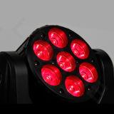 DJ scène 7PCS 12W RGBW Lyres LED faisceau lumineux