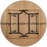 Mesa redonda de banhos dobráveis de madeira de 72 '' W / Top acabado revestido transparente (CGT1612)